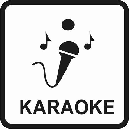 "Picture of Bus / Coach ""Karaoke"" Sticker"