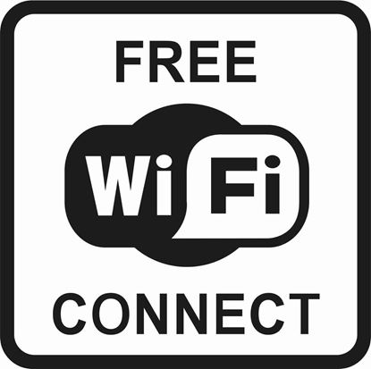 "Picture of Bus / Coach ""Free Wifi Connect"" Sticker"