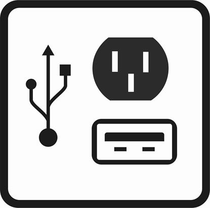 "Picture of Bus / Coach ""USB & Charger Outlets"" Sticker"