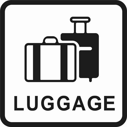 "Picture of Bus / Coach ""Luggage"" Sticker"
