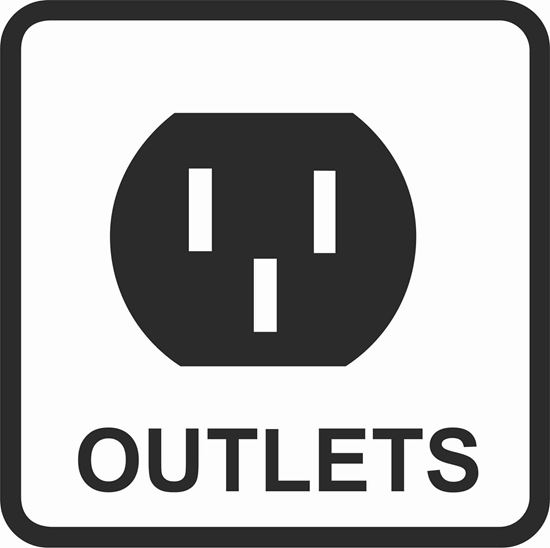 "Picture of Bus / Coach ""Socket Outlets"" Sticker"