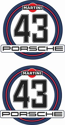 Picture of Porsche Martini 1970's historic Door / Panel number Decals / Stickers