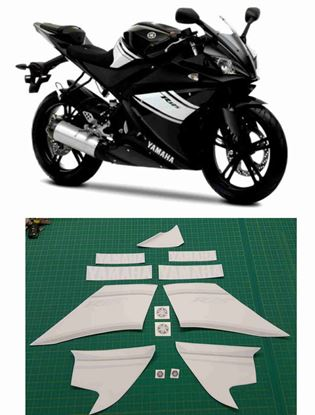 Picture of Yamaha YZF R125  Replacement Decals / Stickers (Black paint)