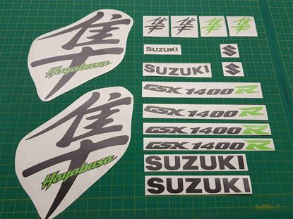 Picture of Suzuki  Hayabusa GSX 1400R 1999 - 2007 full replacement Decals / Stickers