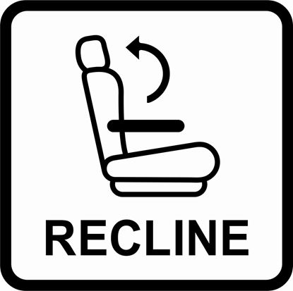 "Picture of Bus / Coach  Seat ""Recline"" Connect"" Sticker"