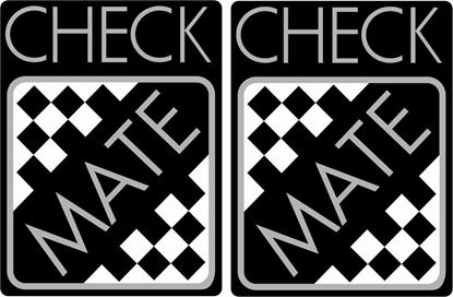 "Picture of Mini ""Check Mate"" replacement Decals / Stickers"