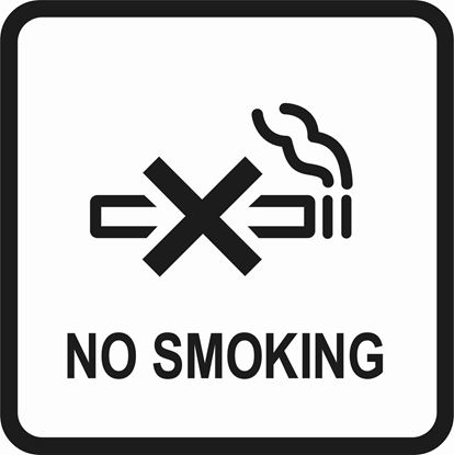 "Picture of Bus / Coach ""No Smoking"" Sticker"
