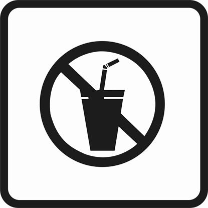 "Picture of Bus / Coach ""No Drinks"" Sticker"