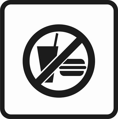 "Picture of Bus / Coach ""No Food or Drinks"" Sticker"
