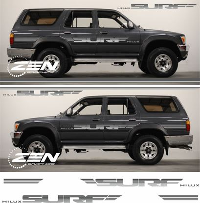 "Picture of Toyota Hilux MK2 1989 - 1995  ""Surf"" replacement side Stripes / Stickers"