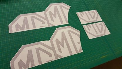 Picture of MG Metro replacement floating Octagon Decals / Stickers - RED PAINT