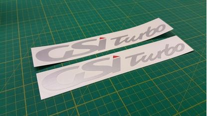 "Picture of Vauxhall Zafira ""GSi Turbo""  Decals / stickers"
