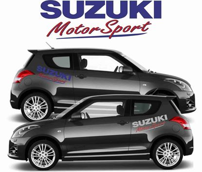 "Picture of Suzuki Swift ""Suzuki Motorsport"" Side Decals / Stickers"