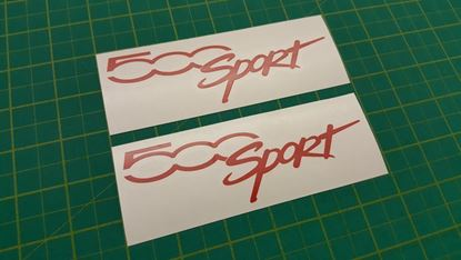 """Picture of Fiat  """"500 Sport"""" Decals / Stickers"""