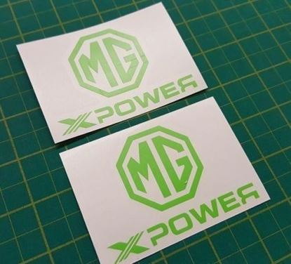 "Picture of MG ZR / ZT / ZS ""XPOWER""  panel / Glass Decals / Stickers"