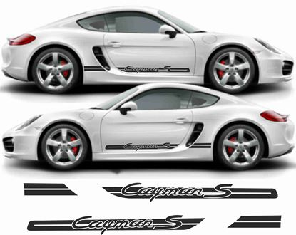 Picture of Porsche 981 Cayman stripes / Stickers