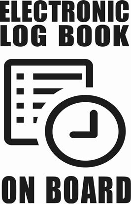 "Picture of Bus / Coach Table ""Electronic Log Book on board"" Sticker"