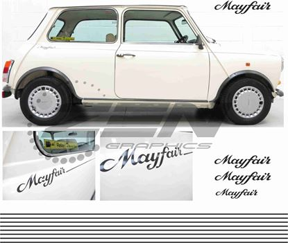 "Picture of Mini replacement side & rear ""Mayfair"" Decals and Stripes"