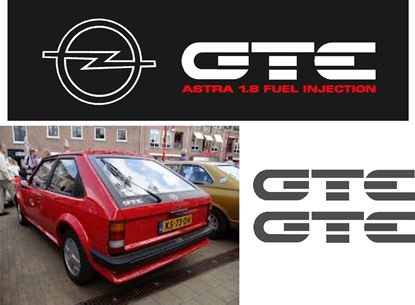 Picture of Opel Astra 1.8 Injection  replacement Decals / Stickers