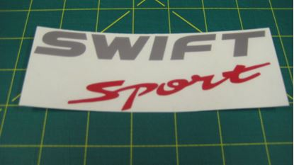 "Picture of Suzuki Swift  sport (Z32S)  ""Suzuki Sport"" replacement  rear Decal / Sticker"