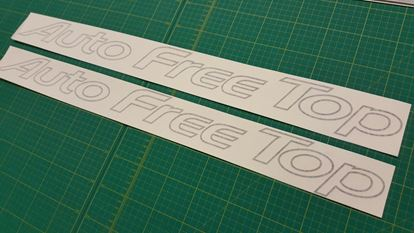 "Picture of Mazda Friendee Bongo ""Auto Free Top"" replacement top side Decals / Stickers"