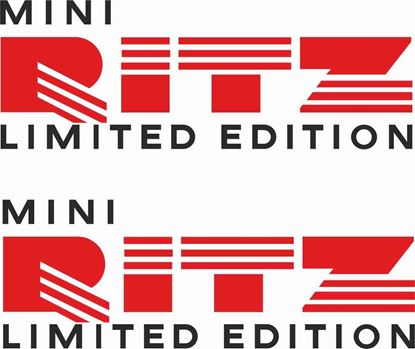 "Picture of Mini replacement side replacement ""Mini Ritz Limited Edition"" Decals / Stickers"