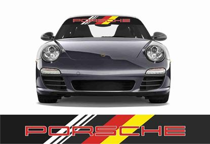 Picture of Porsche Dutchland Sun visor Vinyl Sticker