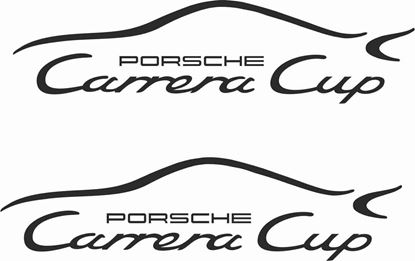 Picture of Porsche Carrera Cup Panel / Glass Decals / Stickers