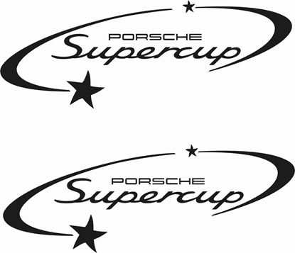 Picture of Porsche Supercup Panel / Glass Decals / Stickers