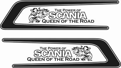 "Picture of Scania  ""Queen of the Road ""  top side  Decals / Stickers"