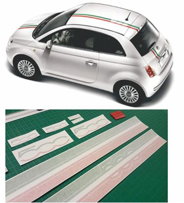 Picture of Fiat 500 Italia  over the top  Stripes / Stickers