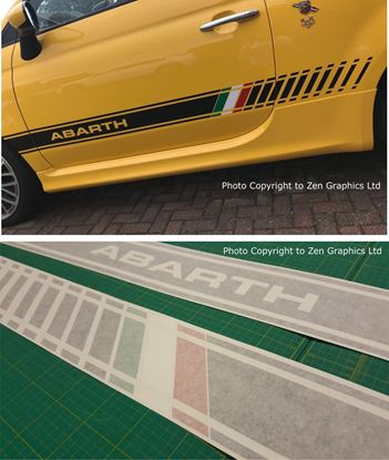 Picture of Fiat 500 / 595 Abarth side Italia  side Stripes / Stickers