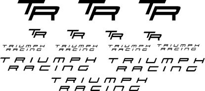 "Picture of ""Triumph Racing"" and ""TR"" Decals / Stickers"