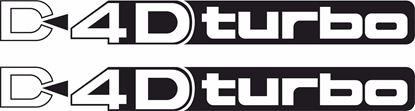 "Picture of Toyota Prado / Land Cruiser  ""D4D Turbo"" side replacement Decals / Stickers"