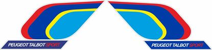 Picture of Group B Rally Peugeot 205 - 200mm - Talbot Samba Sport  Decals / Stickers