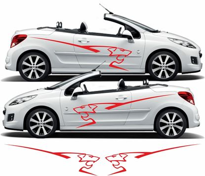 Picture of Peugeot 207 side lion Graphics / Stickers