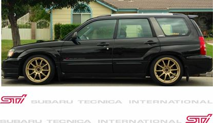 Picture of Subaru Forester STi, replacement door Decals / Stickers