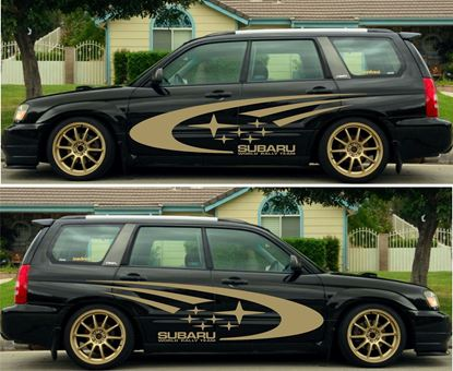 Picture of Subaru Forester Sti, Side WRC Graphics /  Stickers