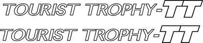 "Picture of Audi TT  ""Tourist Trophy TT""  outline Decals / Stickers"