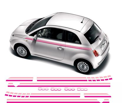 Picture of Fiat 500 Panel fit side Stripes / Stickers