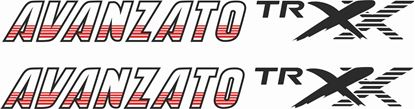 "Picture of Daihatsu Mira ""TR XX Avanzato""  replacement side  Decals / Stickers"