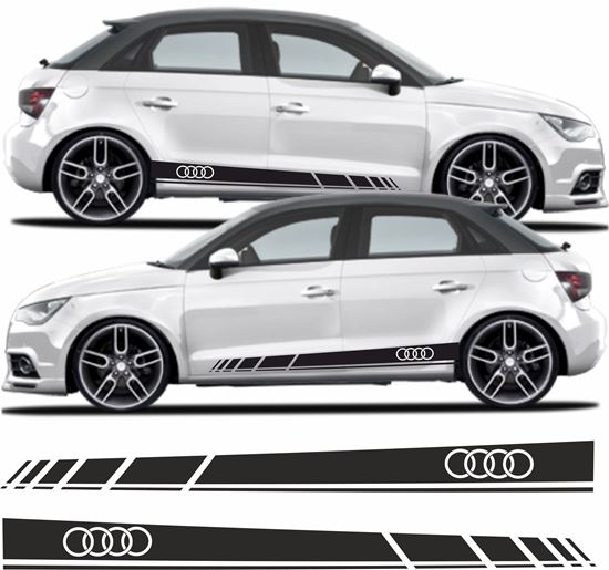 Zen Graphics Audi A1 Side Stripes Stickers