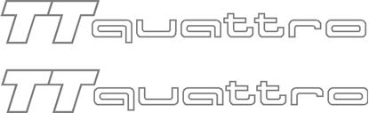 "Picture of Audi TT  ""TT Quattro""  outline Decals / Stickers"