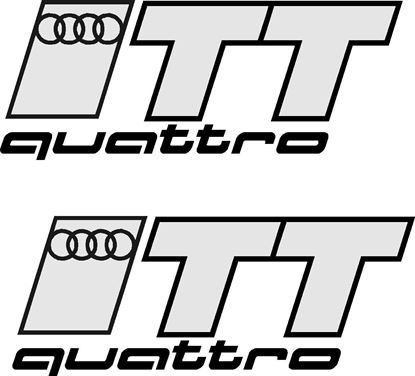 "Picture of Audi TT  ""TT Quattro"" Decals / Stickers"