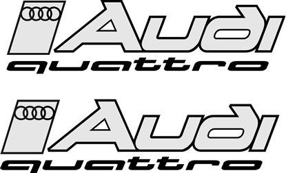 """Picture of """"Audi Quattro"""" Decals / Stickers"""
