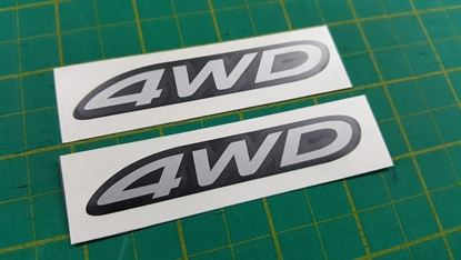"Picture of Mitsubishi Outlander replacement ""4WD"" rear screen Decal / Sticker"
