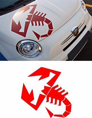 Picture of Fiat  500 / 595 Abarth Bonnet Scorpion Decal / Sticker