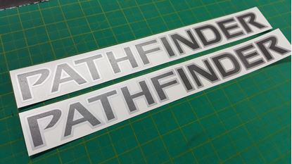 Picture of Nissan Pathfinder Replacement Roof Bar Decals / Stickers