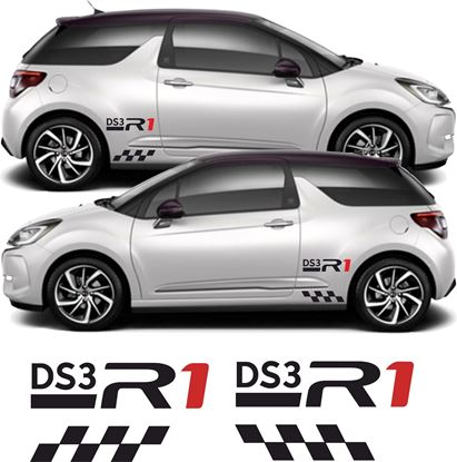 "Picture of Citroen ""DS3 R1"" Side  Decals / Stickers"