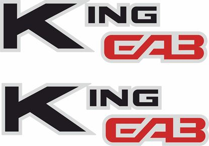 "Picture of Nissan D21 ""King Cab"" Replacement Decals / Stickers"